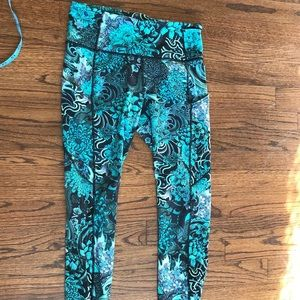 Lululemon Fast and Free 7/8 length tights
